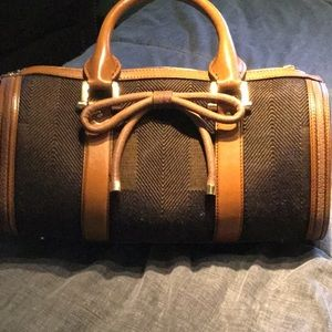 Tweed burberry bag